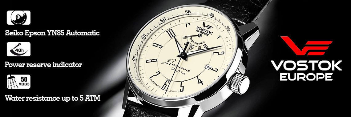 Наручные часы VOSTOK-EUROPE с индикатором запаса хода