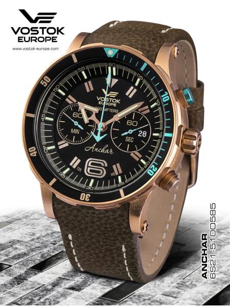Vostok Europe Anchar Chronograph Quartz Bronze 6S21-510O585